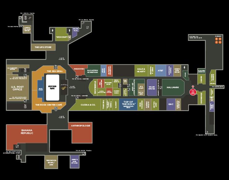 Rockefeller Subway Map.Rockefeller Center Practical People Graphic Design Studio